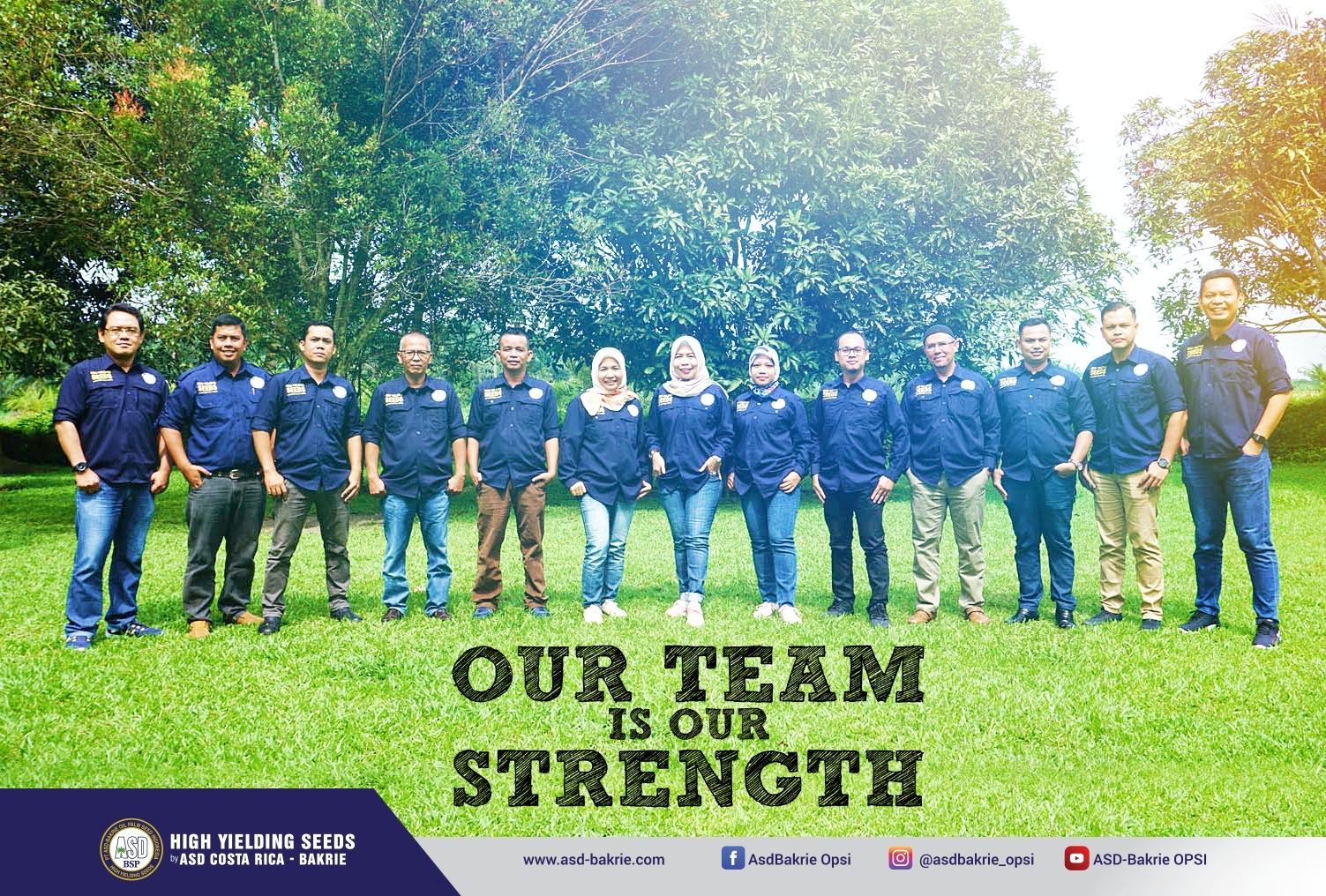 Team yang selalu mendukung semua kegiatan dan pekerjaan di PT ASD Bakrie Oil Palm Seed Indonesia - Kisaran, Sumatera Utara